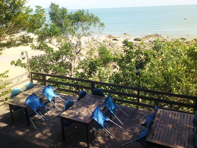 Terrace overlooking the sea at The Feeding Tree