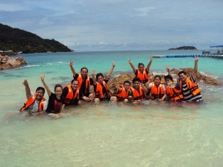 Happy Holiday Makers in Pulau Perhentian